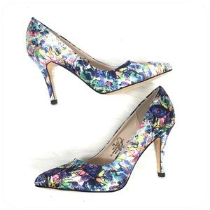 Nicole Miller Floral Heels Women's Pumps Size 7